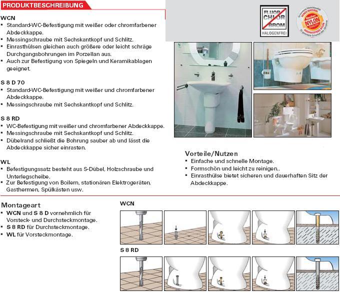 wc und sanit rbefestigungen schrauben g nstige sicherheitsschrauben zubeh r mehr. Black Bedroom Furniture Sets. Home Design Ideas