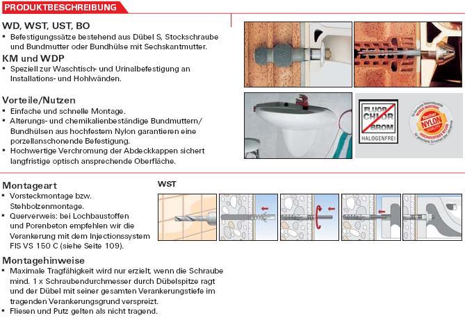 WaschtischUrinalbefestigungen Schrauben Günstige - Dübel für fliesen