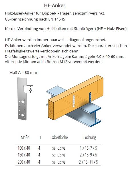 holz eisen anker f r doppel t tr ger verzinkt schrauben. Black Bedroom Furniture Sets. Home Design Ideas