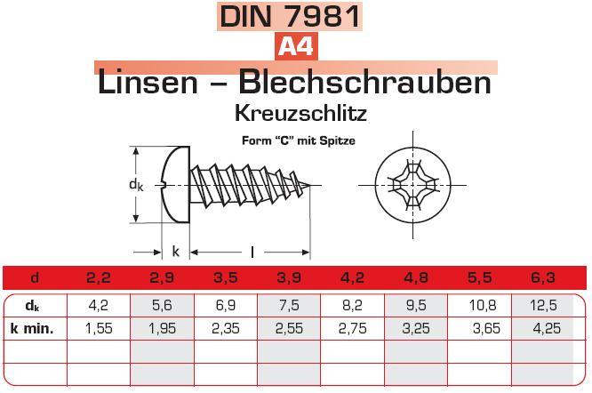 10* Edelstahl V4A Sechskant Blechschrauben 6,3 x 9,5 DIN 7976 mit Zapfen