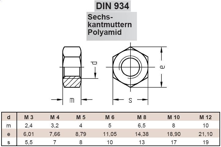 100, M3 Schwarze Sechskantmutter DIN 934 Edelstahl A2 M3 M4 M5 M6 M8 M10