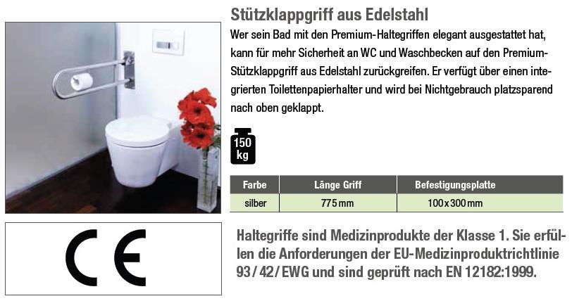st tzklappgriff aus edelstahl belastbar bis 150 kg g nstig bei kaufen. Black Bedroom Furniture Sets. Home Design Ideas