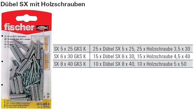 Dubel Sx Mit Holzschraube Sb Verpackt Schrauben Gunstige