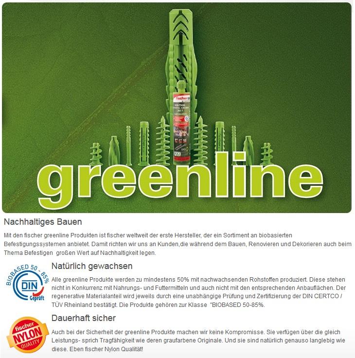 Greenline Befestigungssortiment Fischer D Bel