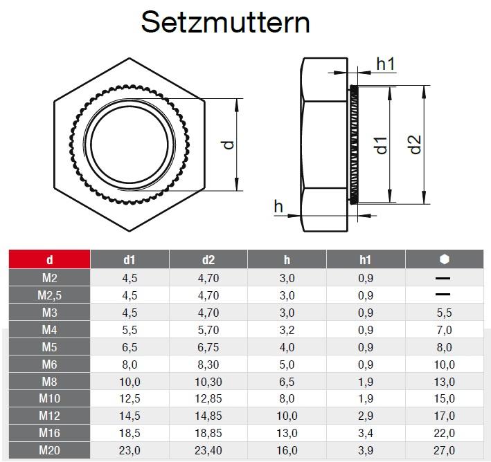 DIN 546 A2 SCHLITZ-MUTTERN Edelstahl VA S   Schlitzmutter M2 M2,5 M3 M4 M5 M6 M8