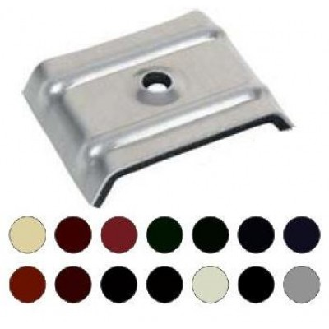 kalotten aus aluminium mit epdm dichtung farbig typ 35 207 40 36 100 st ck schrauben. Black Bedroom Furniture Sets. Home Design Ideas