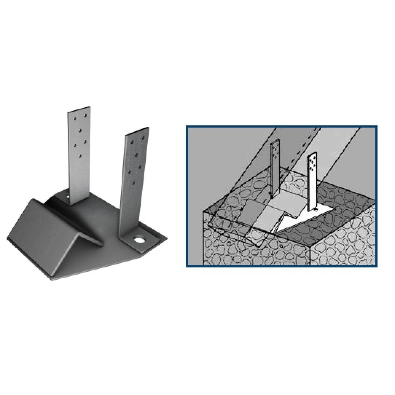 sparrenf e feuerverz f beton l nge 170mm breite 90mm gabelbreite 80mm seitenplatten. Black Bedroom Furniture Sets. Home Design Ideas