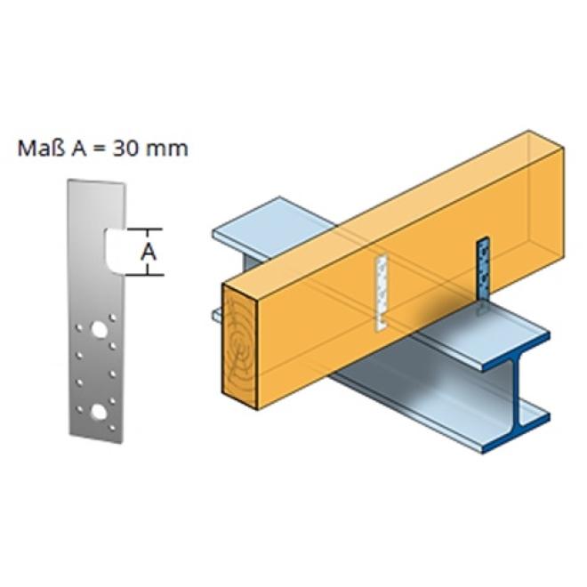 holz eisen anker f r doppel t tr ger verz 200x40mm materialst rke 4 0mm 10 st ck schrauben. Black Bedroom Furniture Sets. Home Design Ideas